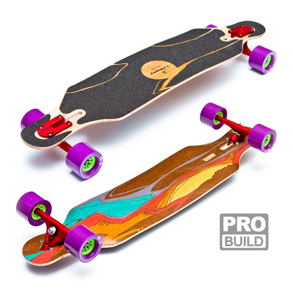 Loaded Icarus Longboard Red Paris Puple Kegels