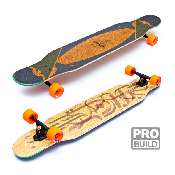 Loaded Tarab Longboard Black Paris Orange Stimulus