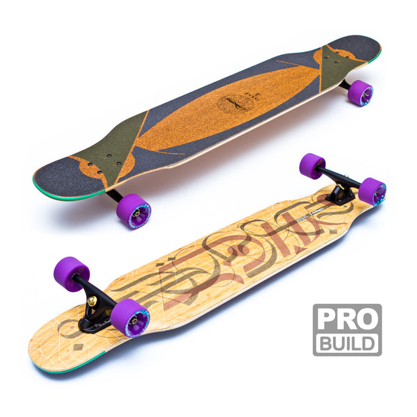 Loaded Tarab Longboard Black Paris Purple Stimulus