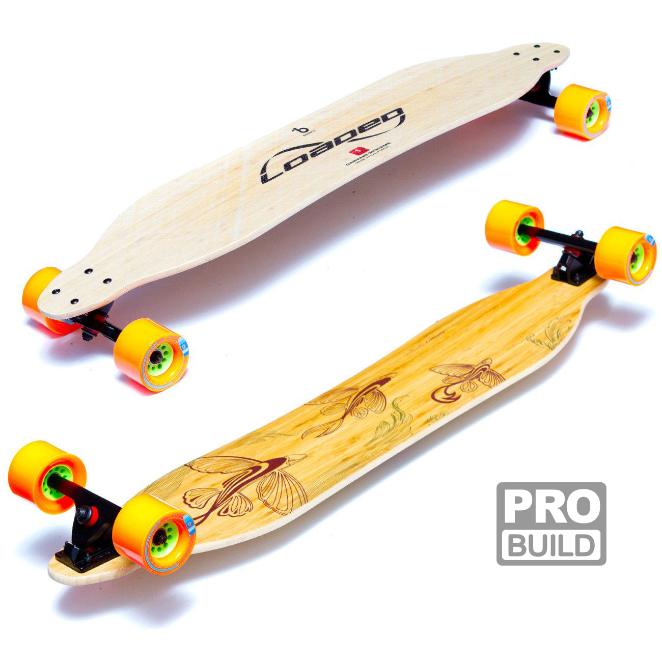 Loaded Boards Vanguard Bamboo Longboard Skateboard Deck