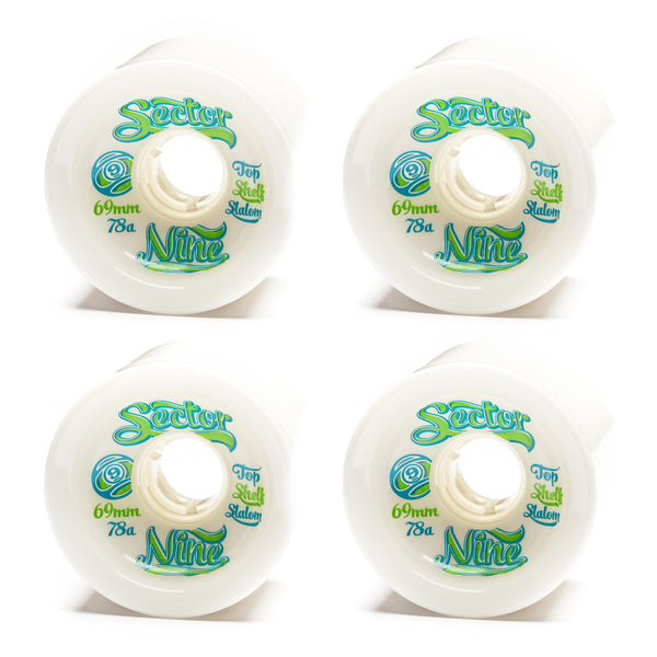 Sector 9 69mm 9-Balls White - Performance Longboarding - FREE SHIPPING!