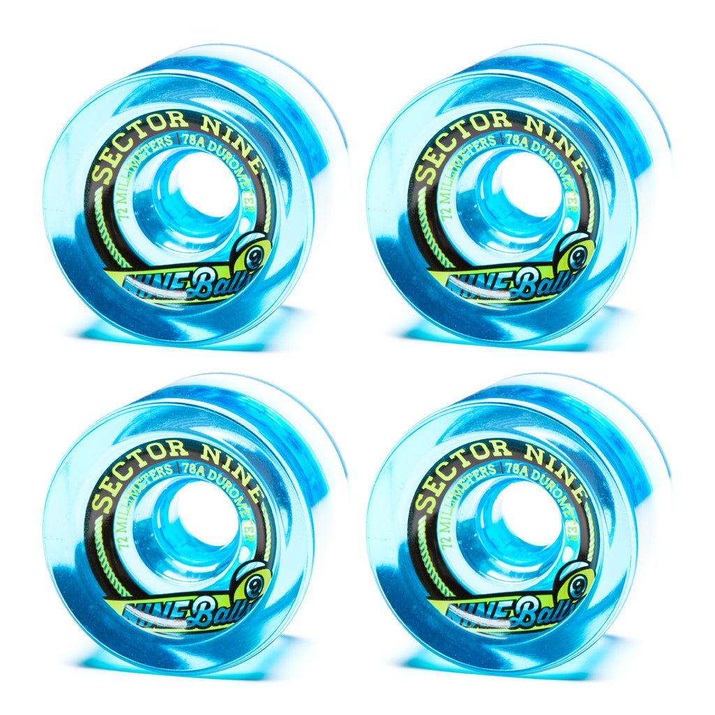 Sector 9 72mm 9-Balls Blue - Performance Longboarding - FREE SHIPPING!