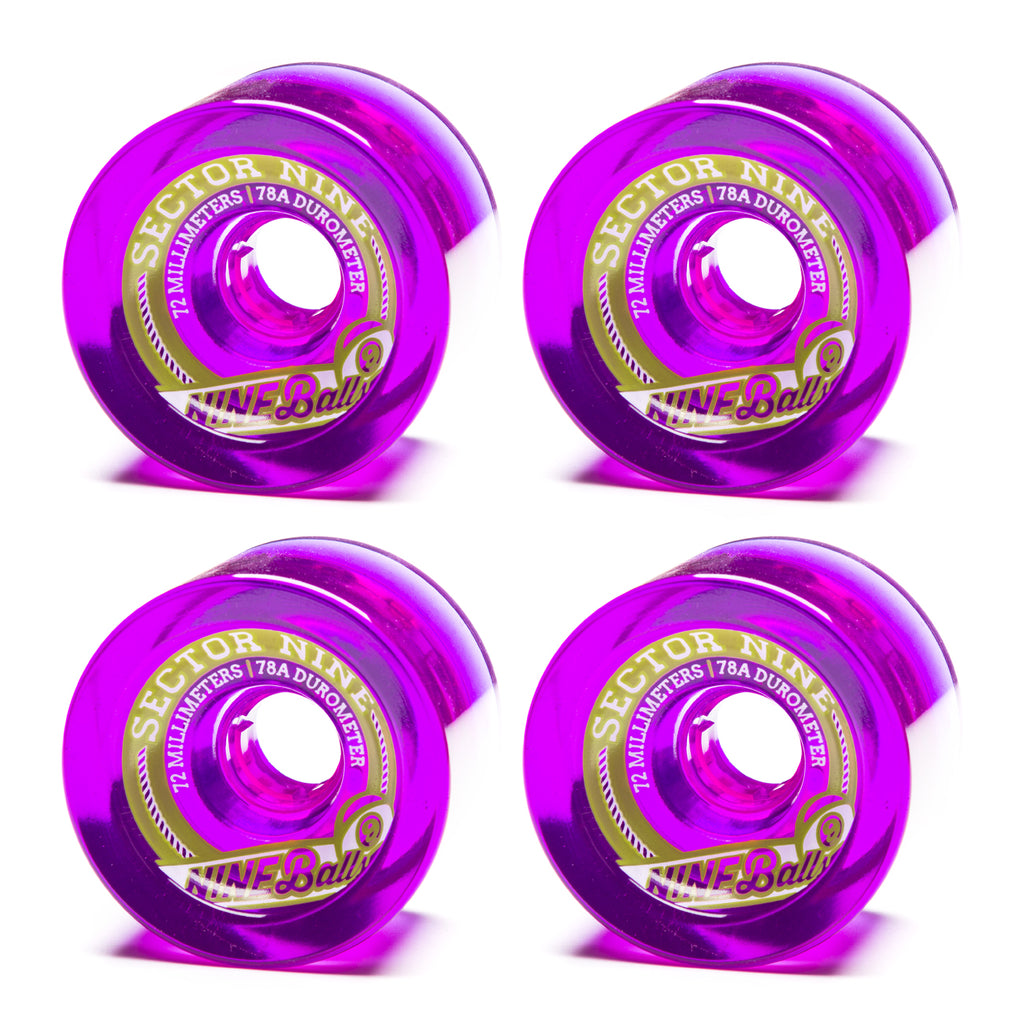 Sector 9 72mm 9-Balls Purple - Performance Longboarding - FREE SHIPPING!