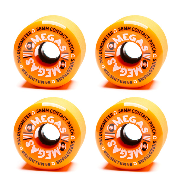 Sector 9 64mm Omega Wheels Orange 78a - Performance Longboarding - FREE SHIPPING!