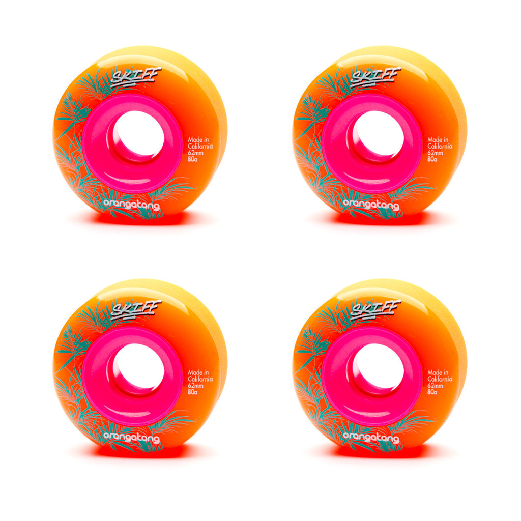 Orangatang 62mm Skiffs 80a Orange - Performance Longboarding - FREE SHIPPING!