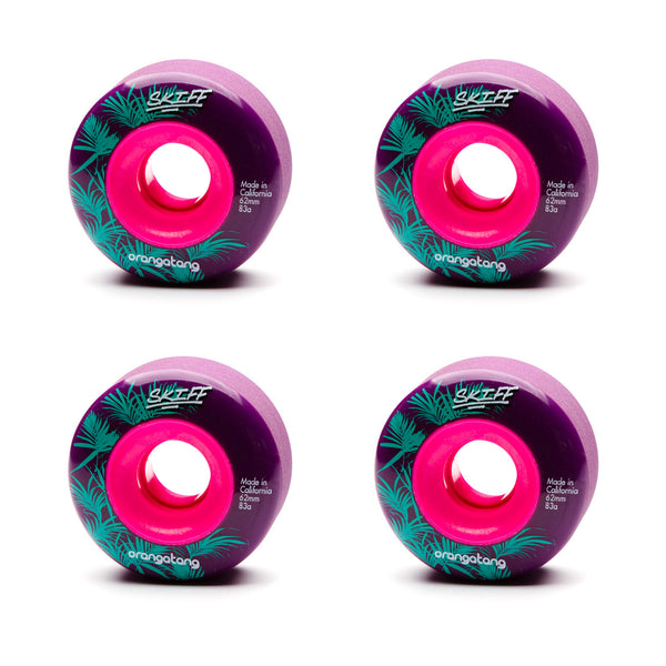 Orangatang 62mm Skiffs 83a Purple - Performance Longboarding - FREE SHIPPING!
