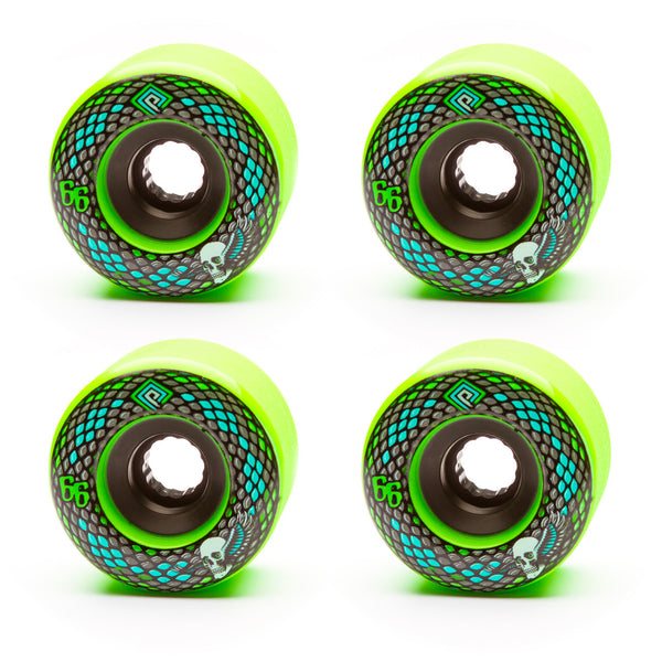 Powell 66mm Snakes 75a Green - Performance Longboarding - FREE SHIPPING!