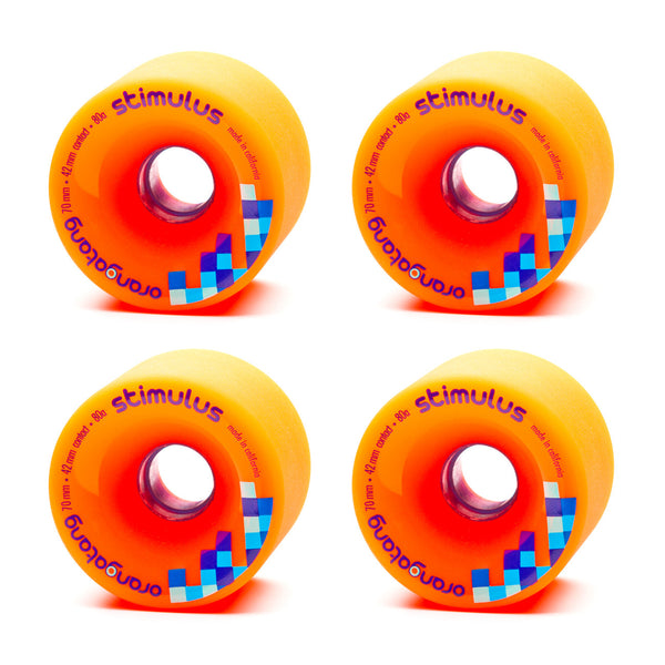 Orangatang 70mm Stimulus 80a Orange - Performance Longboarding - FREE SHIPPING!