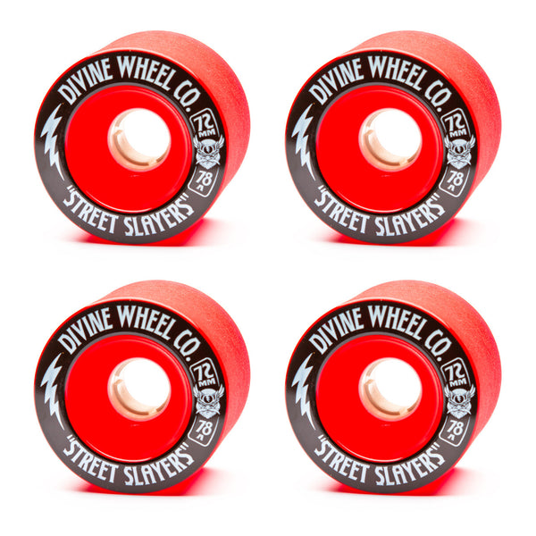 Divine 72mm Street Slayer 78a Red