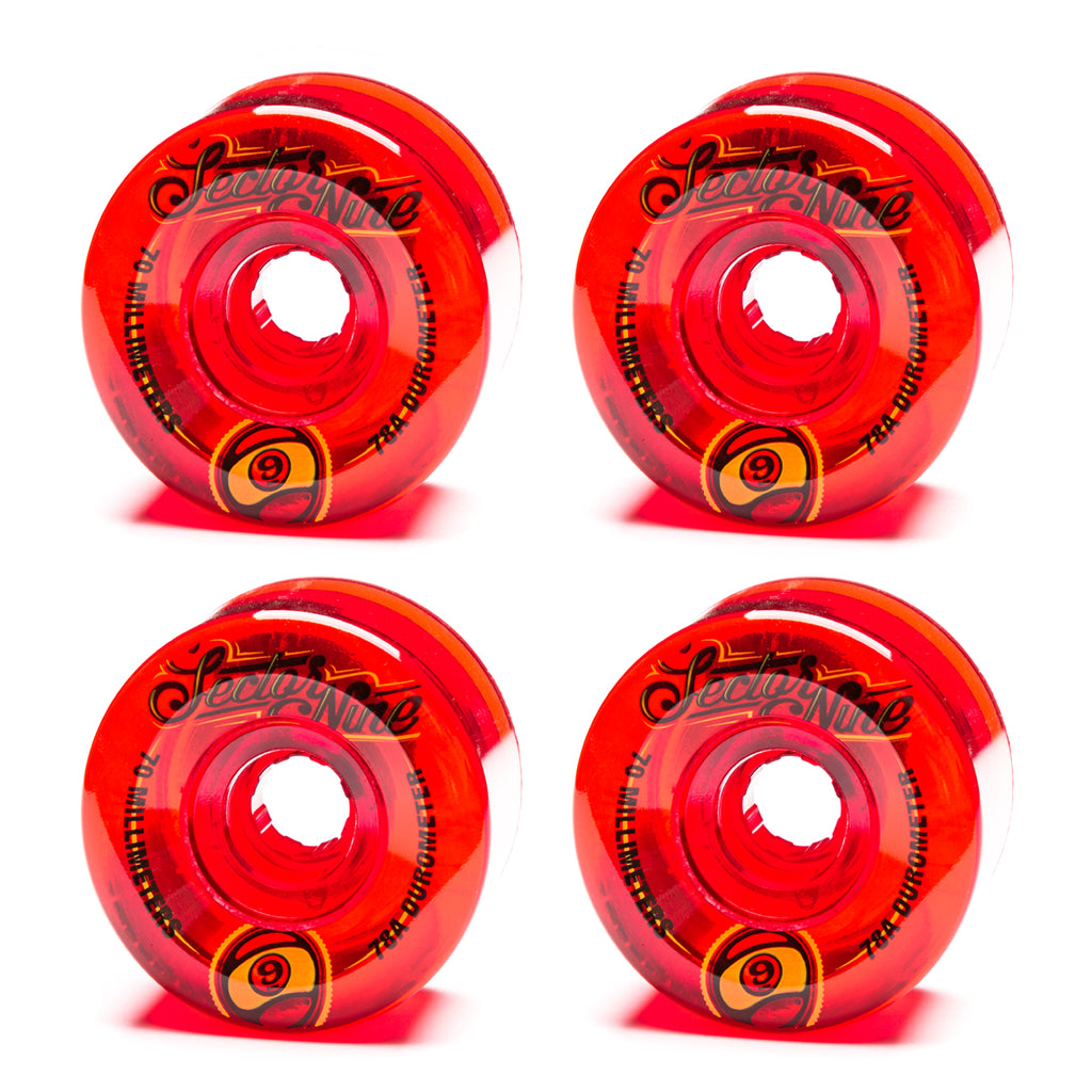 Sector 9 70mm Top Shelf Red - Performance Longboarding - FREE SHIPPING!