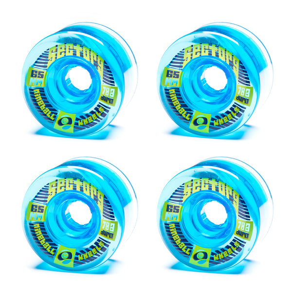 Sector 9 65mm Top Shelf Blue - Performance Longboarding - FREE SHIPPING!