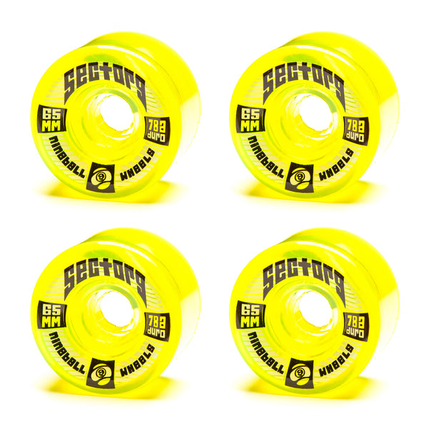 Sector 9 65mm Top Shelf Yellow - Performance Longboarding - FREE SHIPPING!
