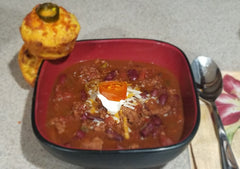 Using Purple Haven's Chili Sauce, Mexican Seasoning mix and Candied Peppers