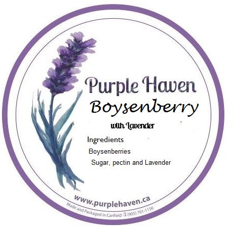 Lavender Boysenberry Jam