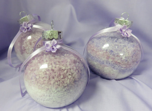 Christmas bath ornaments