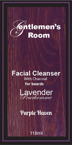 Facial Beard Cleanser with Activated Charcoal  Lavender Pourhomme