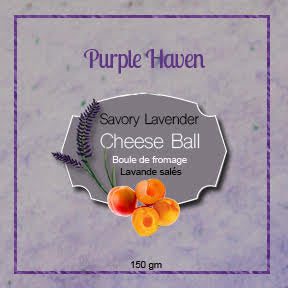 Prepared Savory Lavender Cheese Ball  Set 3