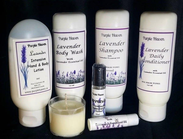 Boxed Lavender Body & Hair Gift Set