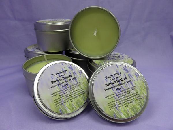 Burning Desires Soy Massage Candles