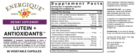 Lutein Antioxidants