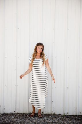 Boardwalk Dress - Blue Ivory