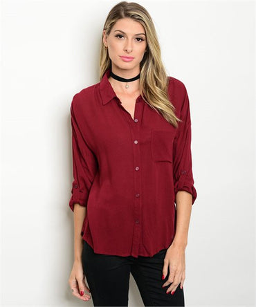 Breezy in Burgundy Top - DIVI