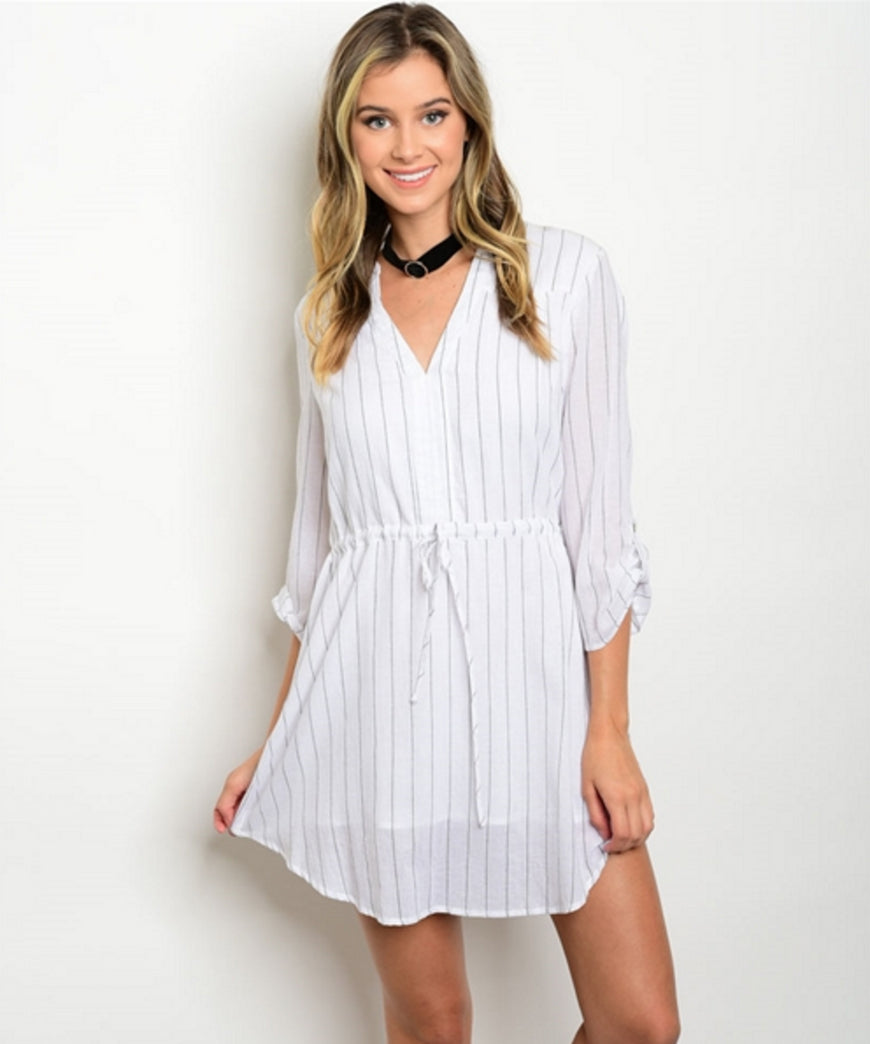 Keep It to a Mini Shirt Dress - DIVI