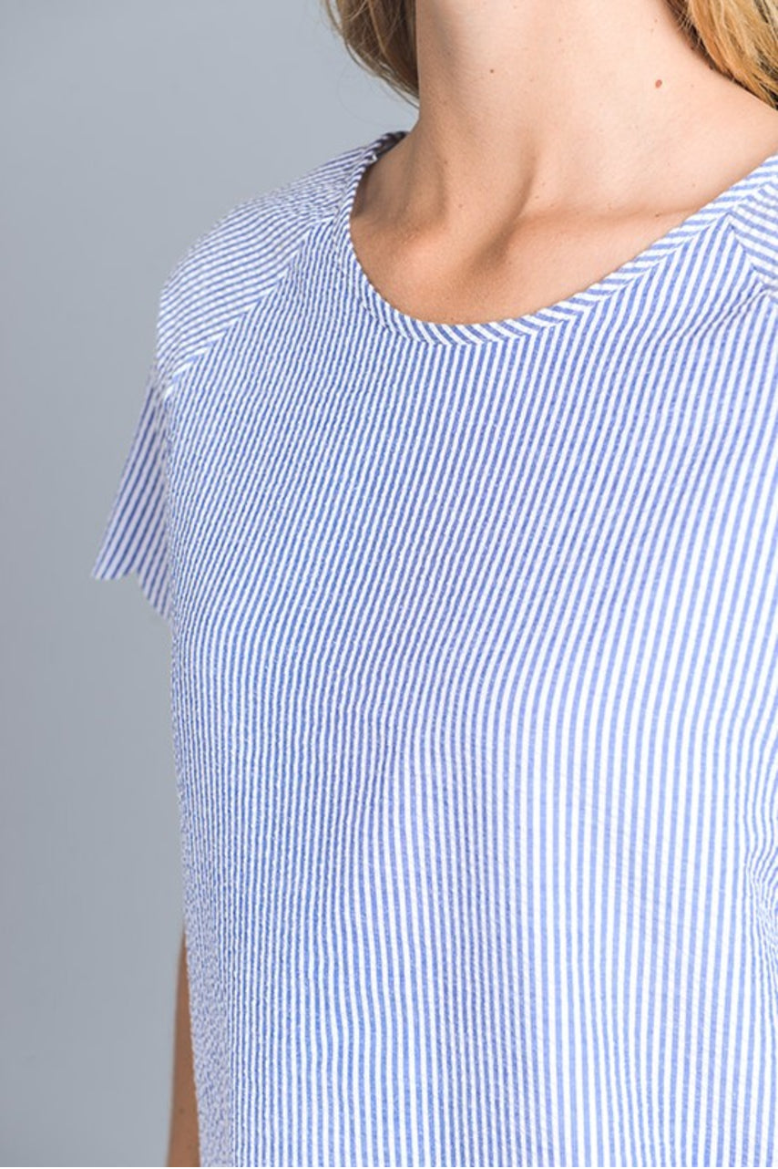Seersucker Scallop Top - DIVI  (2)