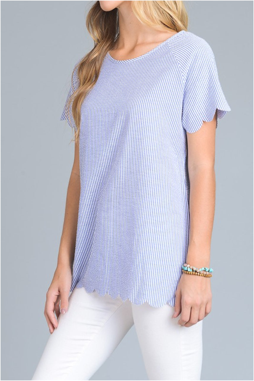 Seersucker Scallop Top - DIVI  (3)