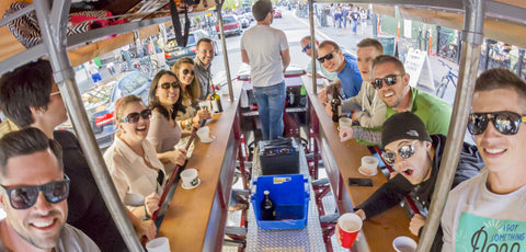Tour downtown Boise, Idaho with Pedals & Pints bike bar