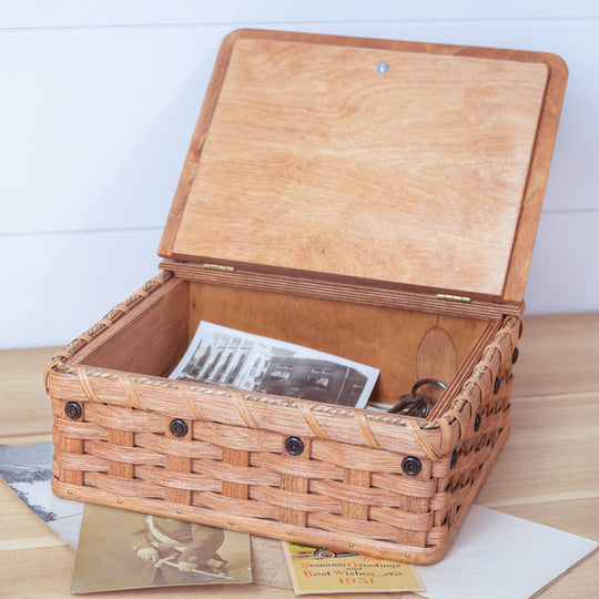 Amish Woven Wood Memory Keepsake Box