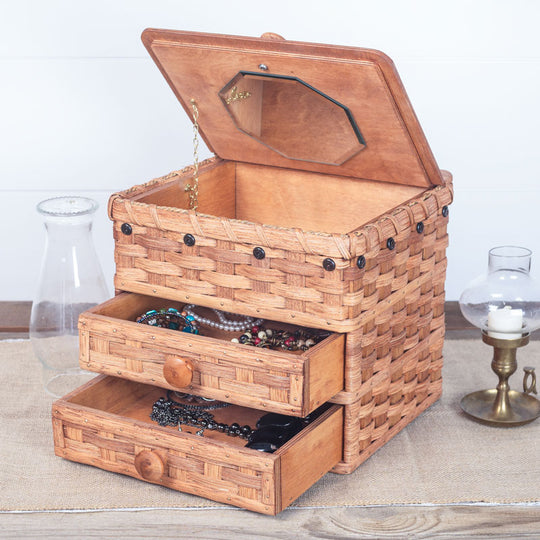 Amish Wicker Large Jewelry Box