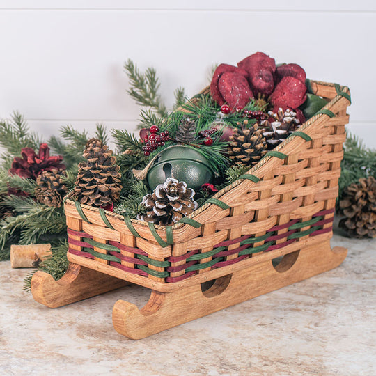 Santa Christmas Sleigh Centerpiece Decor