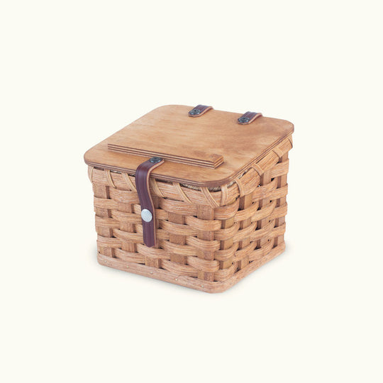 Woven Wood Recipe Card Box