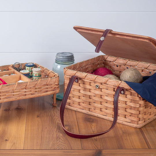Sewing Basket Organizer with Tray