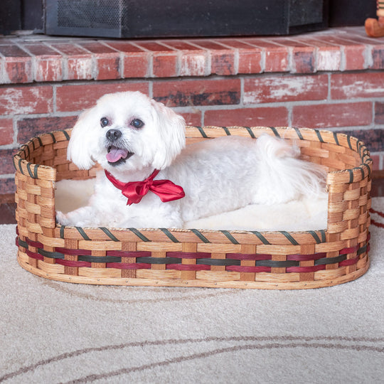 Small Wicker Pet Bed