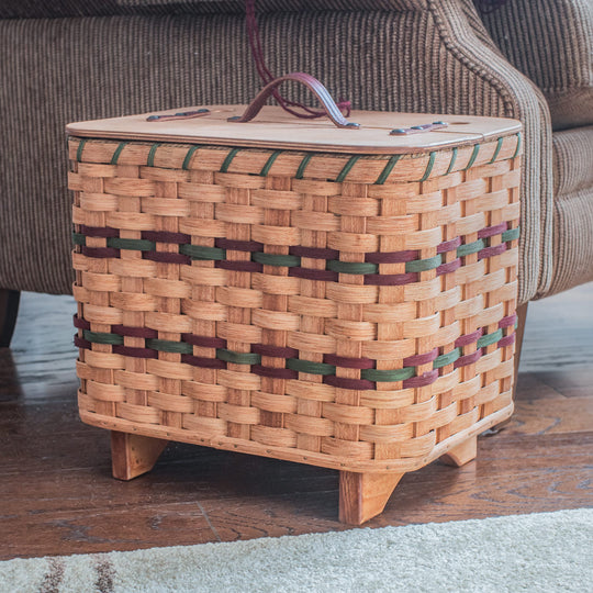 Amish Wicker Crochet or Knitting Basket