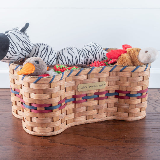 Bone Shaped Dog Toy Basket