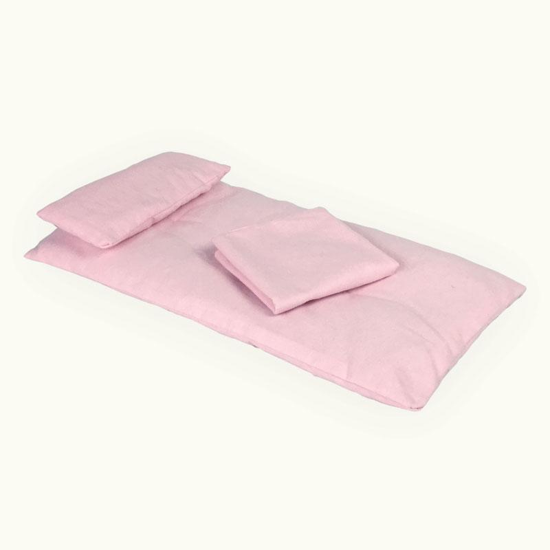 "Gingerich Family Doll Crib Bedding Set for 18"" Amish Cradle Pink"