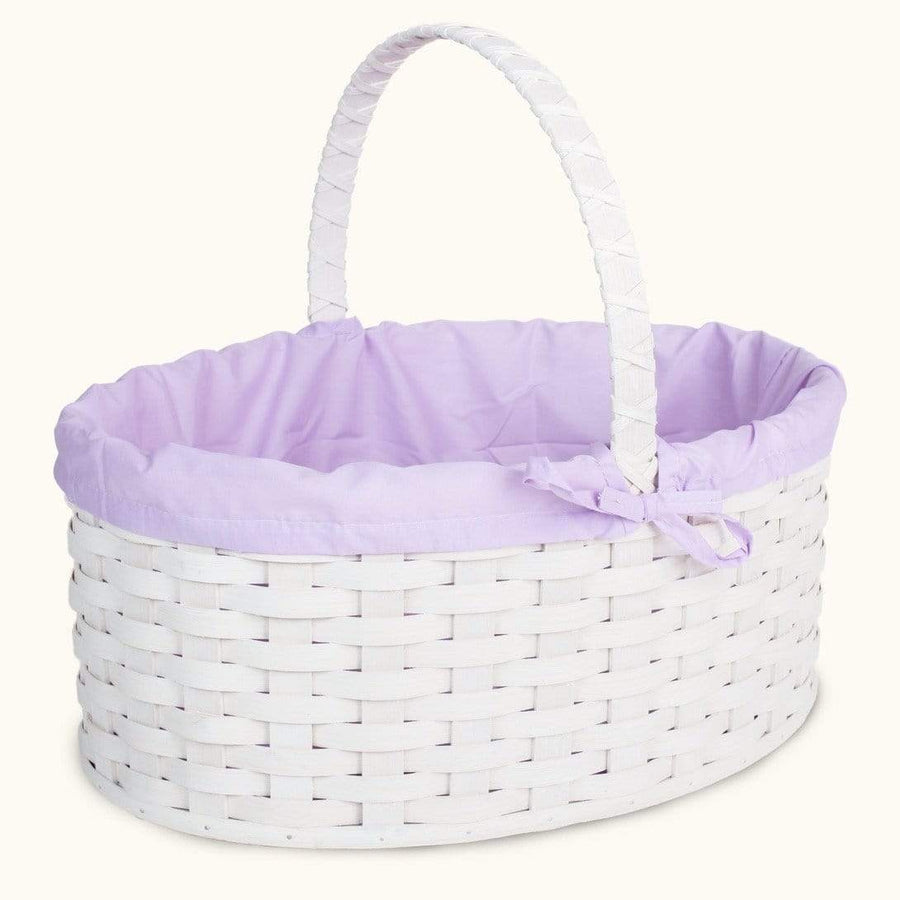 Old-Order Amish Women Amish Hand Sewn Liner for Huge White Wicker Easter Basket Purple