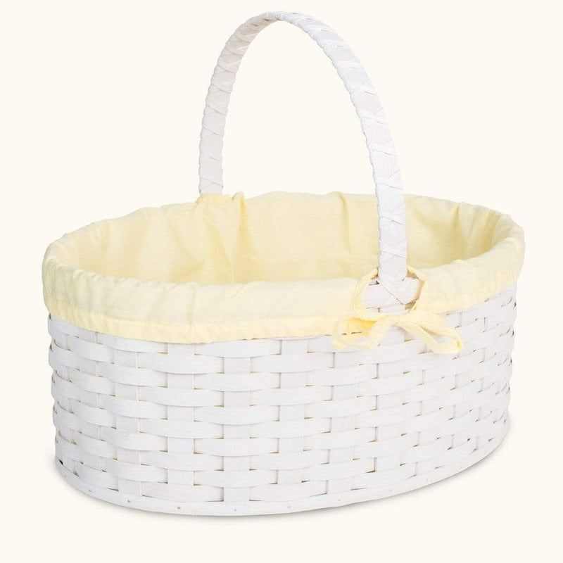 Old-Order Amish Women Amish Hand Sewn Liner for Huge White Wicker Easter Basket Yellow