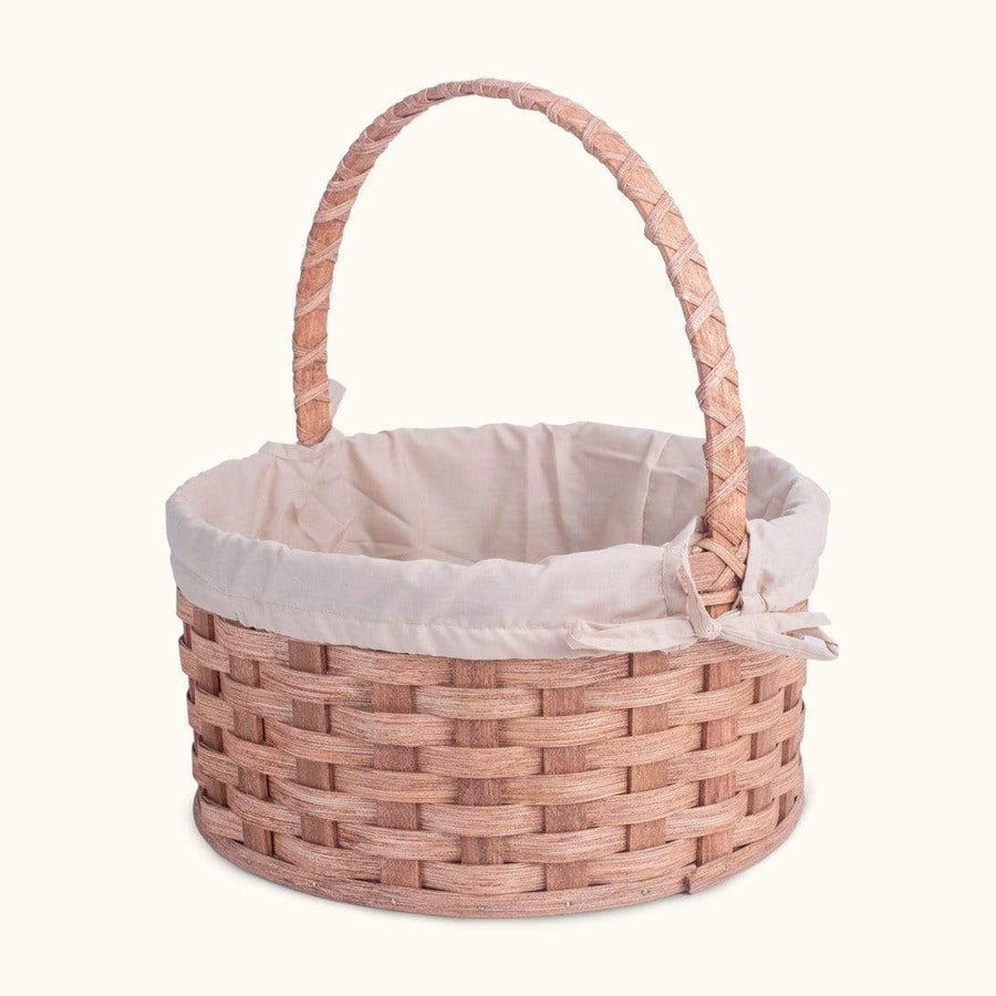 Heirloom Easter Basket | Extra-Large Round - Amish Woven Wicker