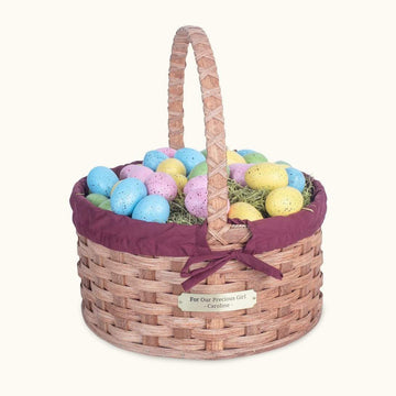 Gingerich Family Heirloom Easter Basket | Extra-Large Round - Amish Woven Wicker Matching