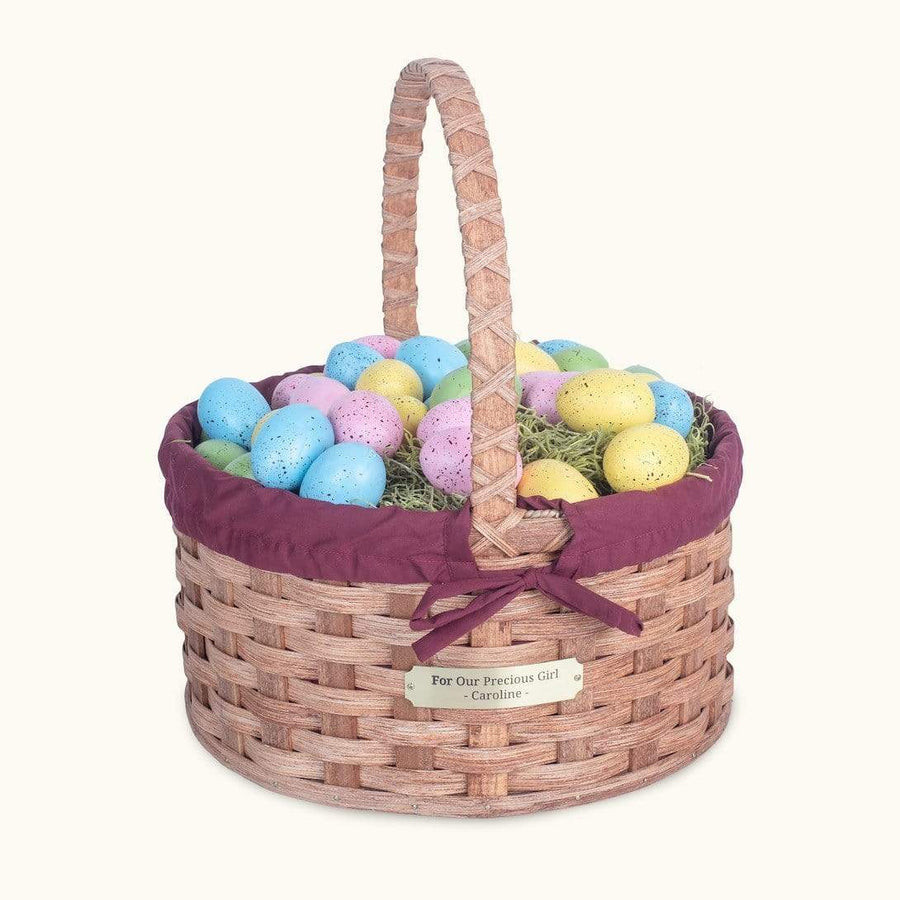 Heirloom Easter Basket | Extra-Large Round - Amish Woven Wicker Matching