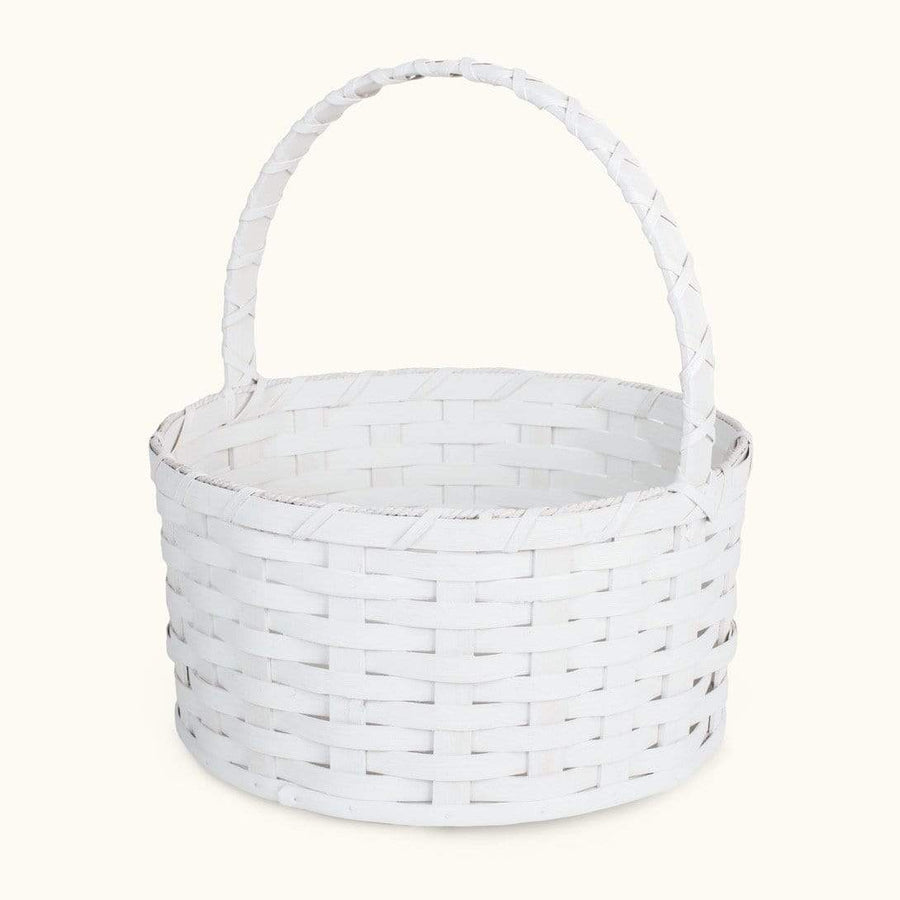 Heirloom Easter Basket | Extra-Large Round Farmhouse White - Amish Wicker