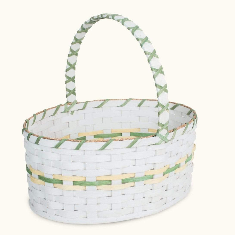 Gingerich Family Oversized Easter Basket | Extra Large Oval Farmhouse White - Amish Wicker
