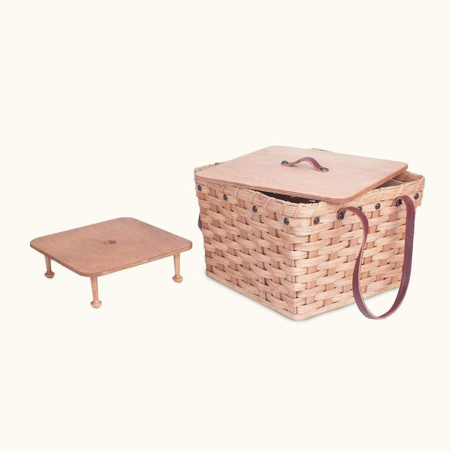 Gingerich Family Medium Picnic & Large Double Pie Carrier | Amish Wicker Basket