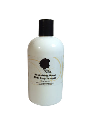 Nakia Amour® Moisturizing Black Soap Shampoo with Tea Tree