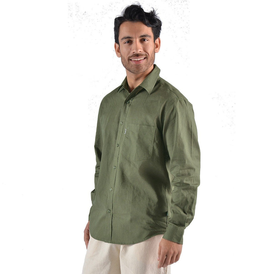 Hemp/Organic Cotton L/S Dress Shirt - Naturally Canada
