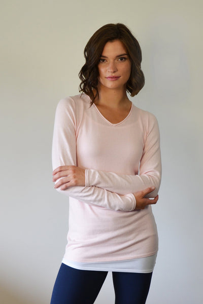 Organic Cotton V Neck Sweater - Naturally Canada